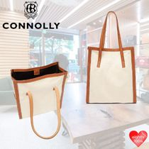 CONNOLLY Casual Style Street Style A4 2WAY Plain Party Style Totes