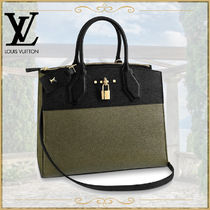 Louis Vuitton CITY STEAMER 2WAY Leather Office Style Shoulder Bags