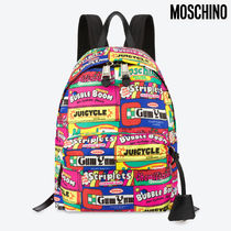 Moschino Casual Style Nylon A4 Backpacks