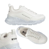 MSGM Round Toe Rubber Sole Casual Style Street Style Plain