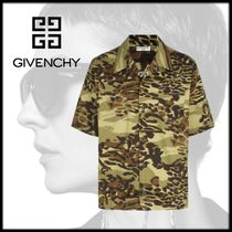 GIVENCHY Camouflage Cotton Short Sleeves Shirts
