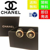 CHANEL Casual Style Blended Fabrics Cross Street Style Party Style