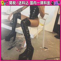 DOLLS KILL Platform Casual Style Plain Over-the-Knee Boots