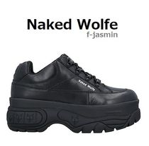 Naked Wolfe Street Style Plain Leather Sneakers