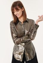 Milly Casual Style Silk Long Sleeves Shirts & Blouses