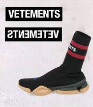 VETEMENTS Rubber Sole Casual Style Street Style Low-Top Sneakers