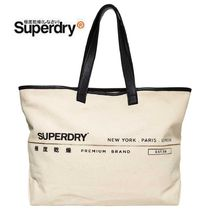 Superdry Unisex Street Style A4 Plain Totes