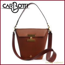 CARBOTTI Casual Style Plain Formal Style  Handbags