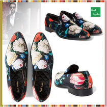 Paul Smith Flower Patterns Suede Street Style Shoes