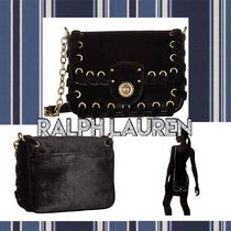 LAUREN RALPH LAUREN Casual Style Chain Leather Party Style Elegant Style