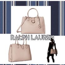 LAUREN RALPH LAUREN Casual Style Plain Leather Party Style Office Style