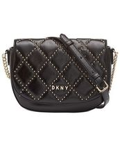 DKNY Casual Style Chain Leather Elegant Style Shoulder Bags