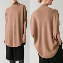 COS Wool Dolman Sleeves Plain Medium High-Neck Oversized Tunics