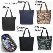 Lo & Sons Camouflage Casual Style Unisex 2WAY Plain Office Style Totes