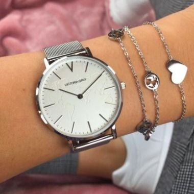 Casual Style Unisex Round Stainless Office Style