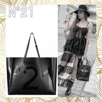 N21 numero ventuno Casual Style Unisex Faux Fur Street Style Totes