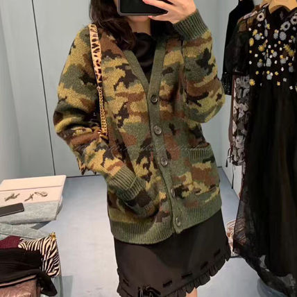 Camouflage Casual Style Long Sleeves Long Cardigans