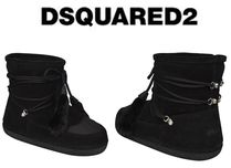 D SQUARED2 Platform Round Toe Casual Style Suede Ankle & Booties Boots