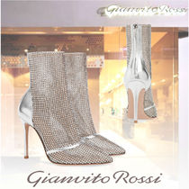 Gianvito Rossi Casual Style Studded Pin Heels Party Style Elegant Style