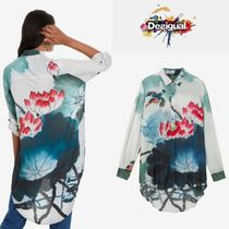 Desigual Flower Patterns Casual Style Long Sleeves