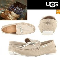 UGG Australia Driving Shoes Suede Plain Loafers & Slip-ons