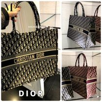 Christian Dior Monogram Casual Style Canvas A4 Office Style Totes