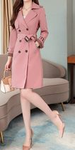 Stand Collar Coats Stripes Casual Style Plain Medium