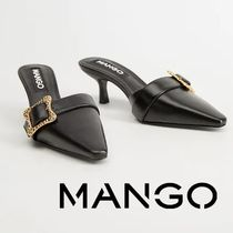 MANGO Leather Pin Heels Sandals Sandal