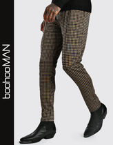 boohoo Printed Pants Other Check Patterns Zigzag Street Style