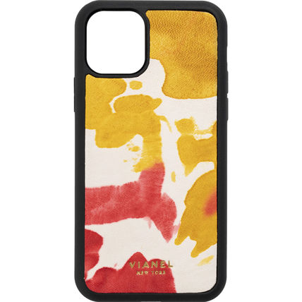 Camouflage Unisex Tie-dye Plain Leather Handmade iPhone 8