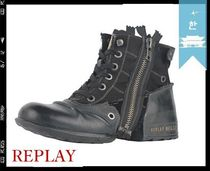 REPLAY Plain Leather Boots