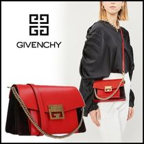 GIVENCHY GV3 Suede 2WAY Bi-color Chain Leather Handbags