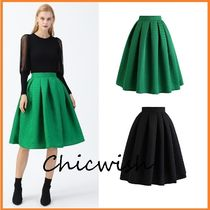 Chicwish Chicwish Wavy Texture Pleated Midi Skirt