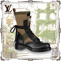 Louis Vuitton Mountain Boots Casual Style Plain Leather Outdoor Boots