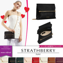 STRATHBERRY Casual Style Calfskin Suede 2WAY Chain Plain Elegant Style