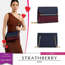 STRATHBERRY Zigzag Casual Style Calfskin Suede 2WAY Chain Plain