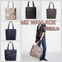 MZ WALLACE Camouflage Casual Style Unisex A4 2WAY Plain Totes
