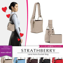 STRATHBERRY Casual Style Calfskin Suede 2WAY Plain Elegant Style