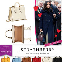 STRATHBERRY Casual Style Calfskin Suede 2WAY Plain Elegant Style Totes