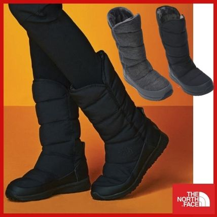 THE NORTH FACE Casual Style Street Style Logo Mid Heel Boots