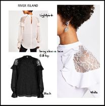 River Island Lace-up Casual Style Long Sleeves Plain Medium Party Style