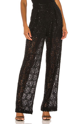 Casual Style Plain Long Party Style Pants