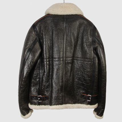 Fur Leather Biker Jackets