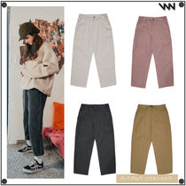 WV PROJECT Casual Style Unisex Corduroy Street Style Plain Long Pants