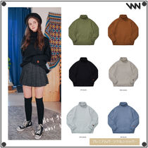 WV PROJECT Unisex Street Style Long Sleeves Knits & Sweaters