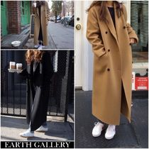 Stand Collar Coats Casual Style Street Style Plain Medium