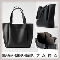 ZARA Casual Style Plain Office Style Totes