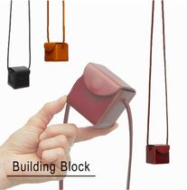 Building Block Casual Style Unisex 2WAY Plain Leather Office Style