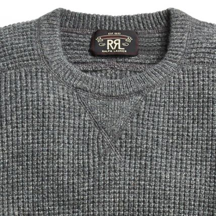 RRL Crew Neck Cashmere Long Sleeves Surf Style Sweaters
