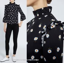 Alice+Olivia Flower Patterns Casual Style Cropped Cotton Medium